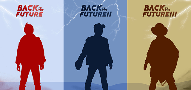 Back to the Future Trilogy triptych