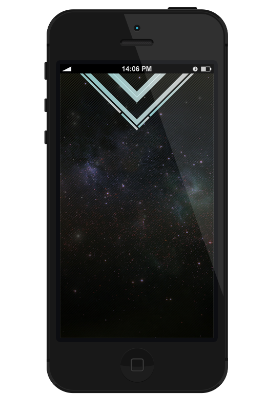 CreativeJUUS Space iPhone 5 Wallpaper