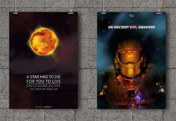 A Star Had to Die and Halo 4 Poster Preview