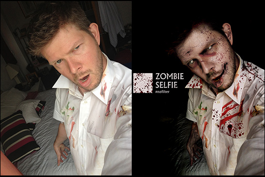 Zombie before and after shot